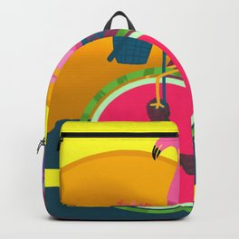 Flamingos Day Out Backpack