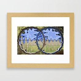 Circle Scape - inspired by Carlos Scarpa Design Framed Art Print