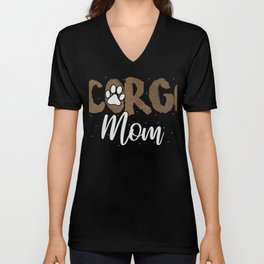 Corgi Mom T-Shirt Pretty Corgi Owner Lover Tee Unisex V-Neck