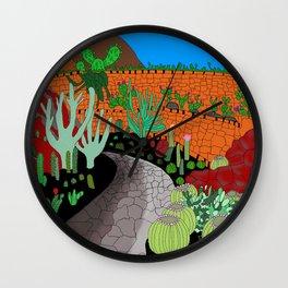 The Cactus Garden, Lanzarote, Canary Islands, Spain Wall Clock