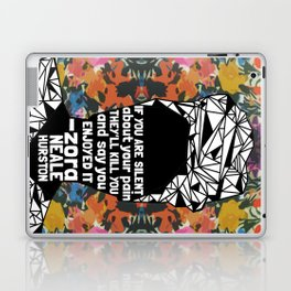 ZNH - If You Are Silent - Black Lives Matter - Series - Black Voices - Floral  Laptop & iPad Skin