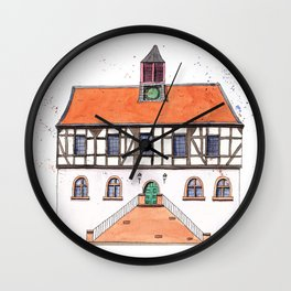 Timber-Framed House from Germany Wall Clock