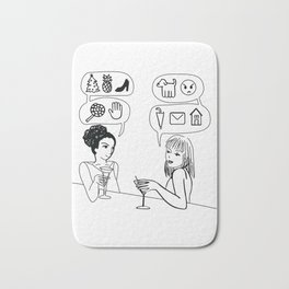 You Speak Excellent Emoji Bath Mat
