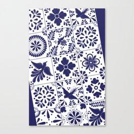 Talavera Mexican Tile Canvas Print