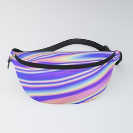 Holographic 80s Style Wave Fanny Pack