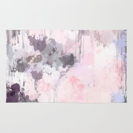 Modern Contemporary soft Pastel Pink Grey Abstract Rug