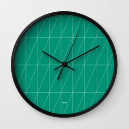 Emerald Triangles by Friztin Wall Clock
