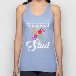 Preschool Stud Funny Preschooler First Day Graphic Unisex Tank Top