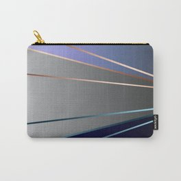 Blue, gray, light blue Carry-All Pouch
