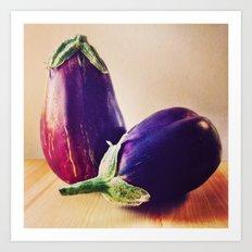 Garden Eggplants Art Print