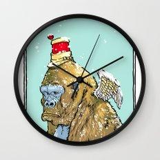 Winged Gorilla Wall Clock