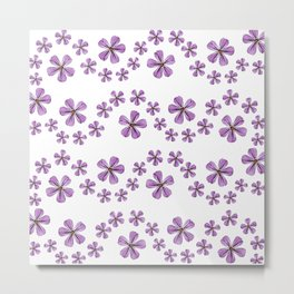 geranium pattern, purple flowers, spring Metal Print