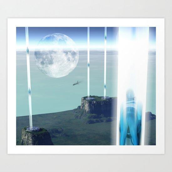 space elevator - transfer station 2099 Art Print
