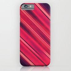 Moder Red / Black Stripe  Abstract Stream Lines Textuer Design  iPhone 6s Slim Case
