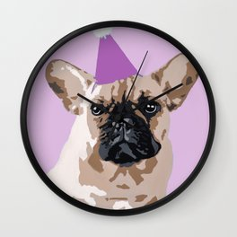 Milo pink on pink Wall Clock