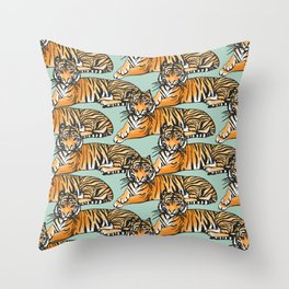 Tame like a Tiger Throw Pillow