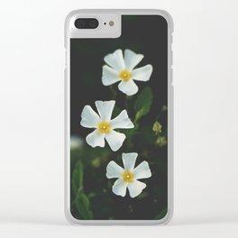 Matte Flowers Portrait Clear iPhone Case