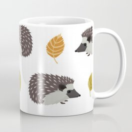 Porcupines, Fall Autumn Leaves Coffee Mug