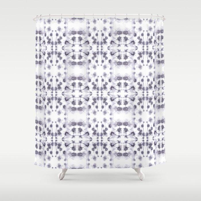 Mirror Dye Stone Shower Curtain By Mjmstudio