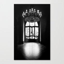 Gaudi in Barcelona Black and White Canvas Print