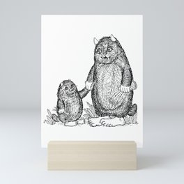 Mini and Big Monster - Friends Mini Art Print