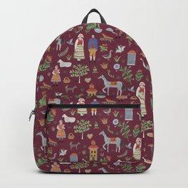 Swedish Folk Art - Red Backpack