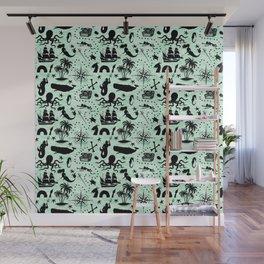 High Seas Adventure // Sea-Green Waves Wall Mural