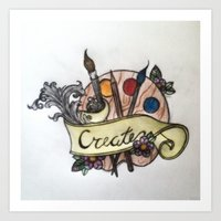 creativity Art Prints featuring Creativity by breeelise