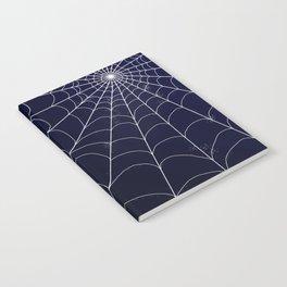 Spiderweb on Midnight Notebook