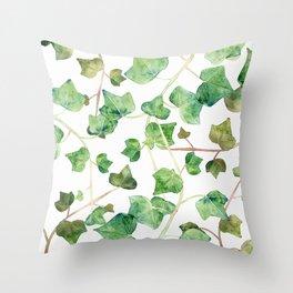 English Ivy Pattern Throw Pillow