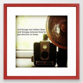 old camera Framed Art Print