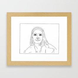 THESE DAYS (B&W) Framed Art Print