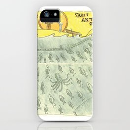 St. Anthony Preaches to the Fish iPhone Case