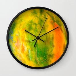 Fruit design with luscious papaya Wall Clock