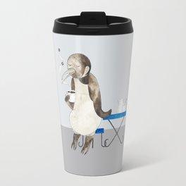 Penguin enjoys coffee Travel Mug