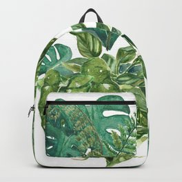 A Pattern of Plants Backpack
