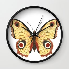 Juno Butterfly Illustration Wall Clock