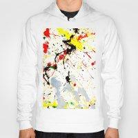 splatter Hoodies featuring Paint Splatter  by Gravityx9