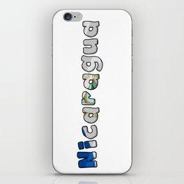 Nicaragua Font with Nicaraguan Flag iPhone Skin