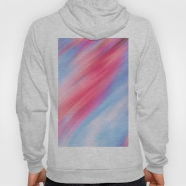 Abstract Aqua Blue Pink Coral Watercolor Brushstrokes Hoody