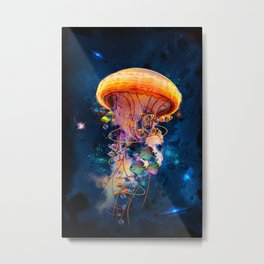 Electric Jellyish World Metal Print