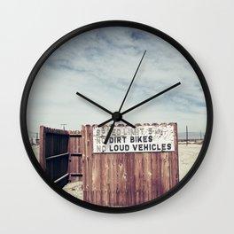 Speed Limit 5 MPH Wall Clock