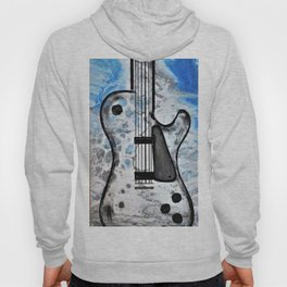 Guitar Art. Featured on back cover of The Music and Art of Black Cat Records. Hoody