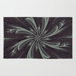 Out of the Darkness Fractal Bloom Rug