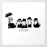 ahs Art Prints featuring AHS Coven by ☿ cactei ☿