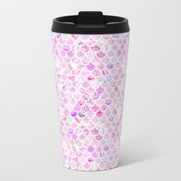 Pink & Purple Marble Mermaid Scales Travel Mug