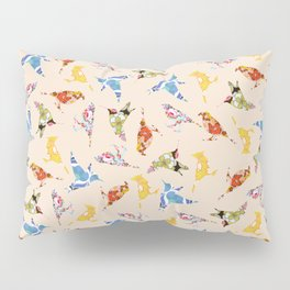 Vintage Wallpaper Birds Pillow Sham