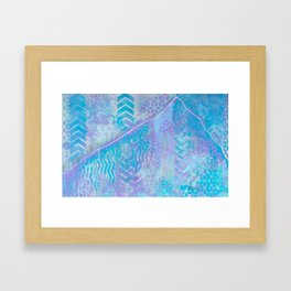 Patterns of Lone Peak Framed Art Print