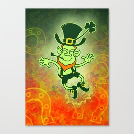Leprechaun Clapping Feet Canvas Print