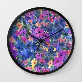 French Red Violet Wall Clock